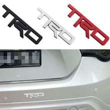 Автомобильный логотип trd 3d гонки металла Стикеры Авто эмблемы