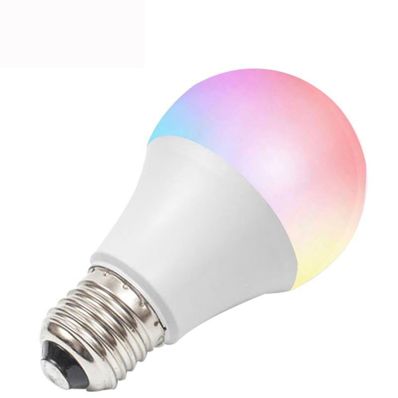 Умная лампа E27 E26 B22 RGBCW 2700K-6500K 9W WiFi, совместимая с Alexa, Echo, Google Home и IFTTT
