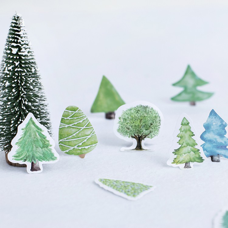 46 Pcs/lot Cute Small Forest Mini Paper Sticker Decoration DIY Scrapbooking Sticker New Stationery