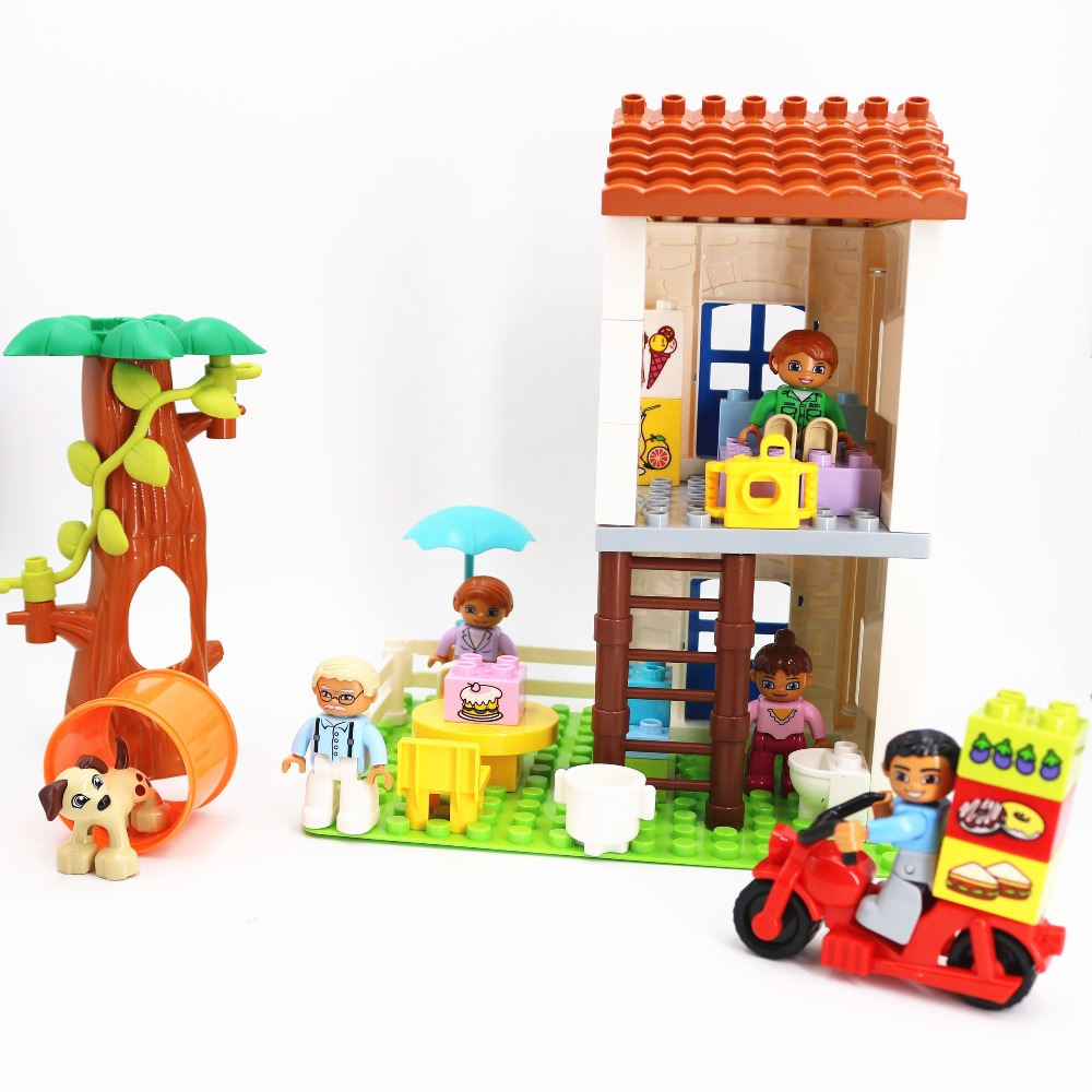 Single Sale Duploe Second Floor House Furniture Building Blocks Educational Toys For Children Compatible With Duploed Gifts
