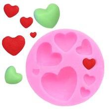 Kochające serce kształt silikonowe formy DIY kolorowe słodkie serce masy cukrowej czekolady cukierki wklej ciasto narzędzie dekoracyjne formy