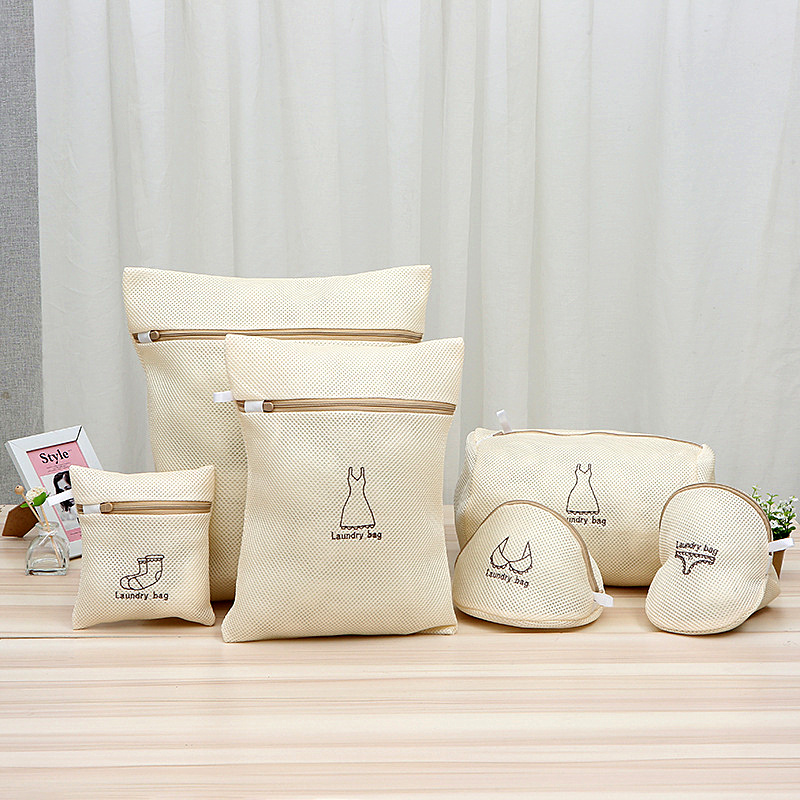 6 Sizes Zippered Mesh Laundry Wash Bags For Washing Machine Lingerie Socks Underwear Clothing Laundry Washing Bag Laundry Basket