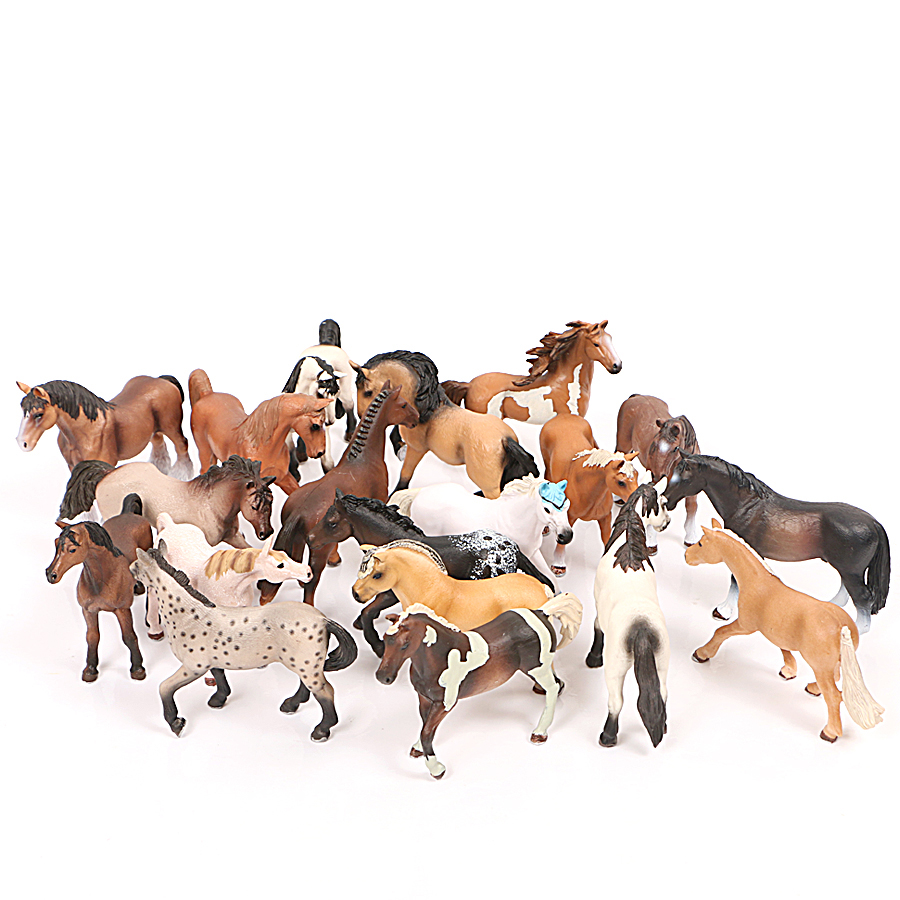 Realistic Animal Lusitano Hanover Kleizdale Oldenburg Horse Model Educational Collection Farm Action Figure Model Kids Toys