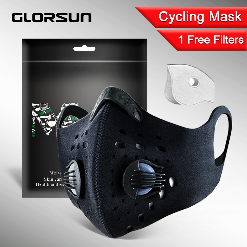 GLORSUN Pollution Mouth Mask Custom Neoprene  Anti Odor Smog  Motorcycle Bike Cycling маска  Air Filter Pollen Dust Mask