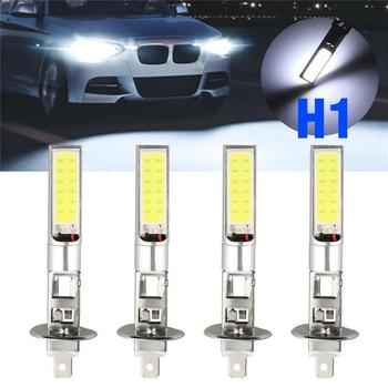 1PCS H1 H3 Car Headlight Bulbs LED Auto Fog Light Headlamp High Beam Low Beam Lamp Halogen Light Auto Accessories 6000K White image