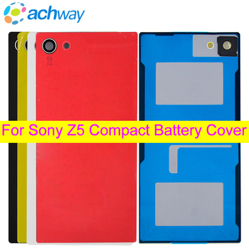 For SONY Xperia Z5 Compact Back Battery Cover E5803 E5823 Housing Rear Door Case Replace For 4.6 SONY Z5 Compact Battery Cover original for sony xperia xz f8332 f8331 housing battery cover door rear cover chassis frame back cover case housing with logo