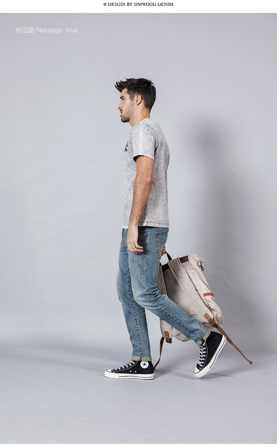 SIMWOOD 2020 New Jeans Men Classical Jean High Quality Straight Leg Male Casual Pants Plus Size Cotton Denim Trousers  180348 25