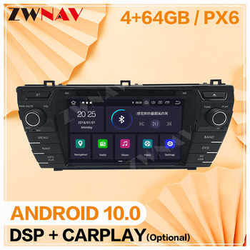 2 din 2013 2014 2015 2016 2017 2018 For Toyota Corolla Android 10 player video audio Radio GPS navigation head unit auto stereo image