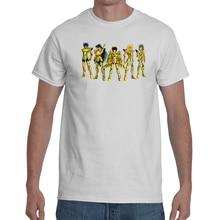 T-shirt Saint Seiya Chevalier Du Zodiaque Personnages Principaux En Armure Dor