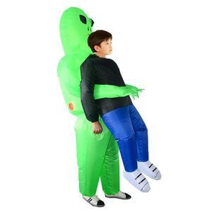 Image 5 - Et alien nadmuchiwany kostium potwora straszny zielony obcy przebranie na karnawał dla dorosłych impreza z okazji Halloween Festival Stage