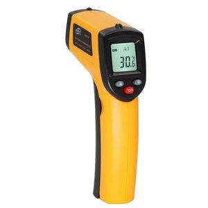 Бесконтактный ЖК-дисплей ИК лазерный инфракрасный цифровой измеритель температуры датчик термометр точка с функцией удержания данных GM320