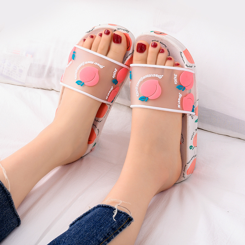 Women Summer Slippers Cartoon Strawberry peach Soft Sole Slides Home Slippers Outdoor Ladies Sandals Women Shoes Flip Flops 1