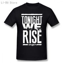 Мужские футболки skillet; Цвет Черный; Модные прямо 100% Повседневный