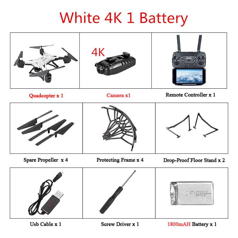 KY601S Foldable Professional Drone w/ 0.3MP/5MP/4K HD Camera 5G WiFi GPS Remote Control Distance 2KM FPV RC Drone RC Quadcopter