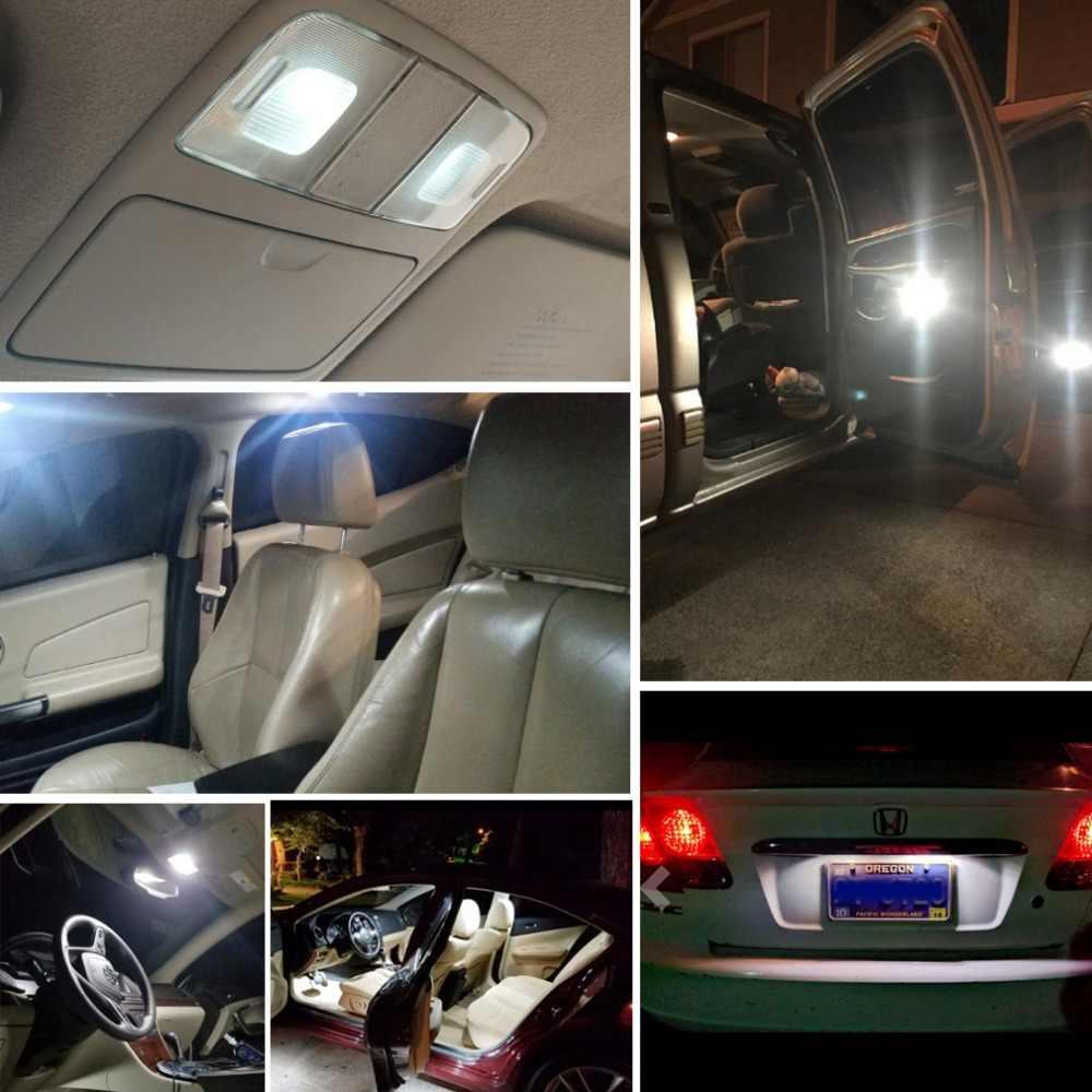 4x w5w 168 12v conduziu a lâmpada branca t10 do tronco do carro dos bulbos conduziu a lâmpada do automóvel para audi a4 b7 b5 a6 c6 q5 honda civic 2006-2011 cabem accord crv