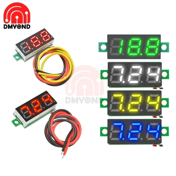 0.28 Inch Digital Voltmeter DC2.5V to 30V Digital Temperature Voltmeter Voltage Panel Meter For 12V Electromobile Motorcycle Car image