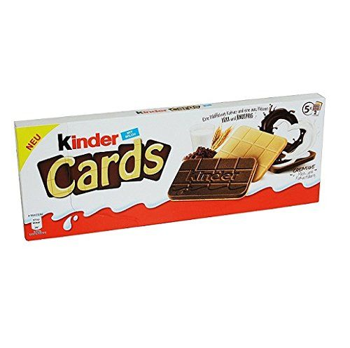 New Kinder Cards Waffers Biscuits Cookies With Milk And White Chocolate 128g. 5 Pack