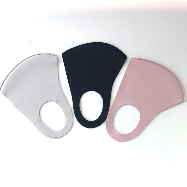 1Pcs mouth face mask black cloth face mask Anti Haze Dust Washable Reusable Dustproof Mouth-muffle Spring Summer Autumn Winter 4