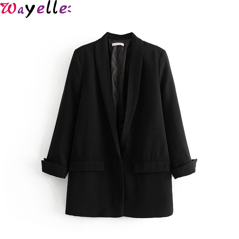 Women Blazer and Jacket Blazer Feminino 2019 Autumn Winter Eelgant Black Red Blazer Office Lady Outerwear Winter Clothes Women