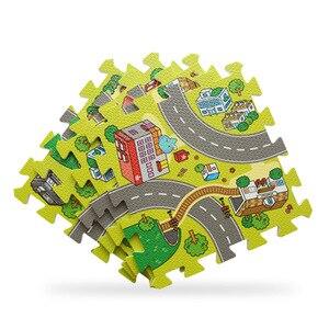 Image 4 - Alfombra de juegos para bebés, alfombra de juegos de espuma EVA, alfombra para niños, alfombras para desarrollar 30*30*1 alfombra de piso de baldosas de 9 piezas