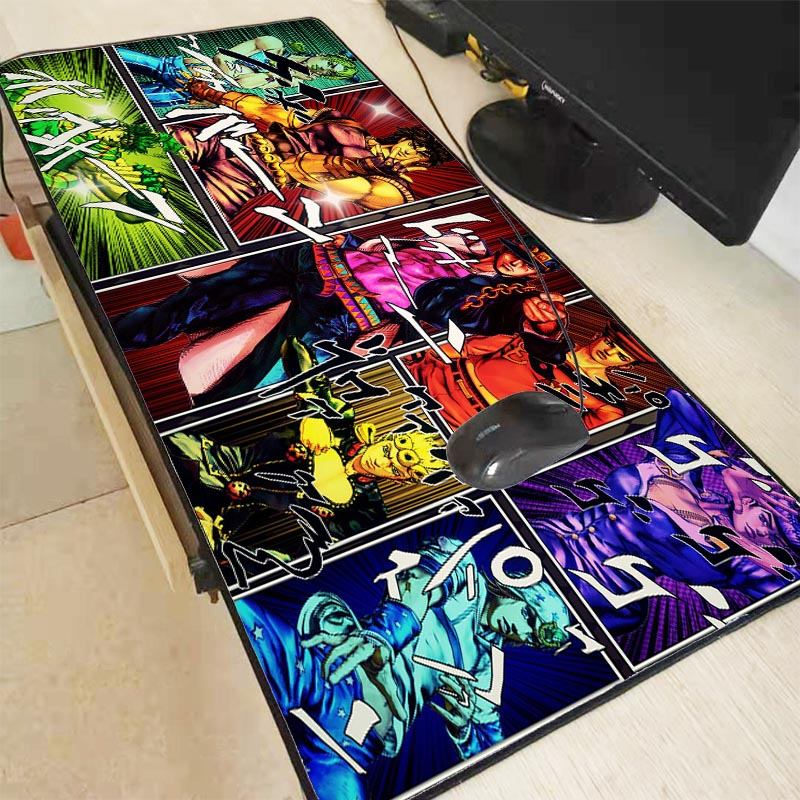 XGZ Anime Jojo Bizarre Adventure Gamer Play Mats Lock Edge Mousepad BIG SIZE Gaming Mouse Pad Durable PC Anti-slip Mouse Mat XXL