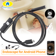 5.5mm 7mm 2M 1.5M 1M  6LEDs Adjustable Endoscope Camera Waterproof Micro USB Inspection Borescope Camera for Android PC