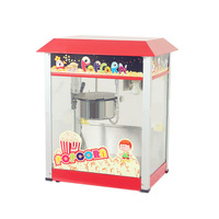 Stainless Steel White Column Popcorn Machine Luxury Commercial Cinema Snack Bar Electric Professional Type Popcorn Machine