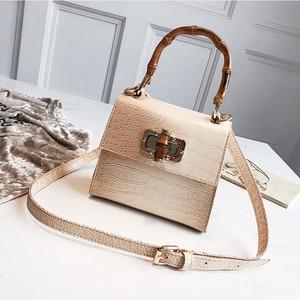 Image 2 - Crocodile Women Handbag Top Handle Bags Designer Lock Crossbody Shoulder Bag Small Flap Bag Purse Bolso Femenino Za Sac A Main
