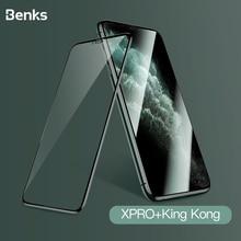 Benks XPRO + King Kong 3D 커브 풀 커버 강화 유리 (iPhone 11 Pro MAX XR X XS 용) 방폭 엣지 스크린 보호 필름