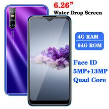 M40 Smartphones Android Quad Core 2SIM 4G RAM 64G ROM Cellphone Mobile Phone Water Drop Screen 13MP Face ID Unlocked Celulares cheap BYLYND Detachable 64GB Face Recognition Up To 48 Hours 3200 Adaptive Fast Charge Smart Phones Bluetooth 5 0 Capacitive Screen