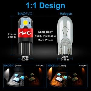 Image 4 - NAO T10 LED W5W Car Bulbs 6pcs 168 194 Turn Signal Auto Clearance Lights 12V License Plate Side Trunk Lamp COB White 3030 SMD