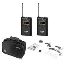 Comica Cvm-Wm100 микрофон 48 каналов Uhf Всенаправленный беспроводной петличный для Nikon sony Canon Panasonic камера Smartphon