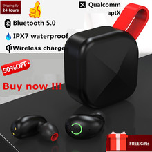 B6 IPX7 Waterproof Super Bass Support Aptx/AAC Earphone TWS Wireless Earbud Bluetooth 5.0 5h Playing Time For iOS/Android Phone(China)