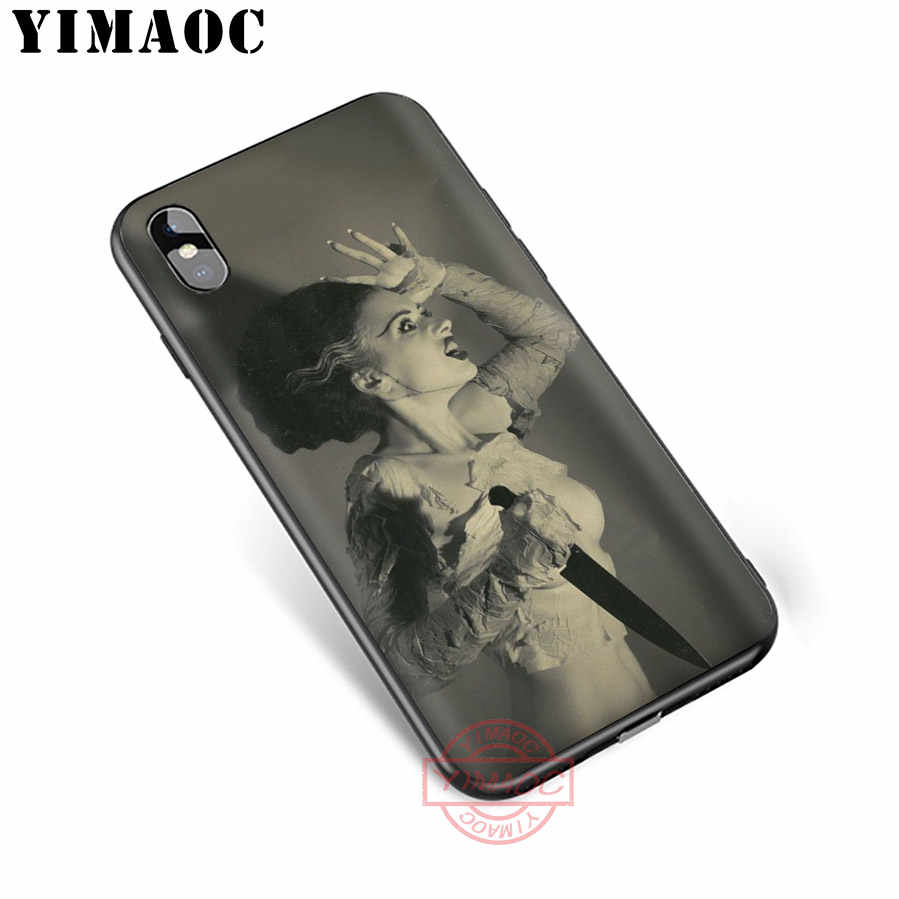 YIMAOC Bride Of Frankenstein Soft Silicone Case Cover for Apple iPhone 5 5S SE 6 6S 7 8 Plus X XS XR 11 Pro Max Back Shell