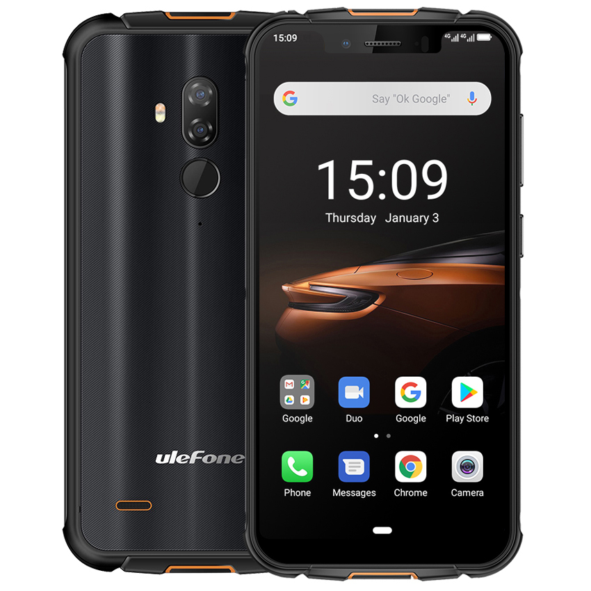 Ulefone Armor 5S NFC IP68 Waterproof Mobile Phone Android 9.0 4GB+64GB MT6763 Otca-core wireless charge 4G LTE Rugged Smartphone