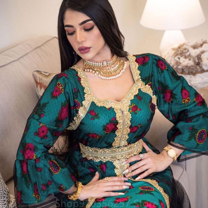 Рамадан Арабская мусульманская одежда Дубай ИД Мубарак мусульманское платье абайя модное женское индейское лоскутное платье с вышивкой ин...