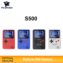 Powkiddy Slim Handheld Game Console Children Gift Built-In 500 Games 8Bit Retro FC Games Children Puzzle Easy To Carry