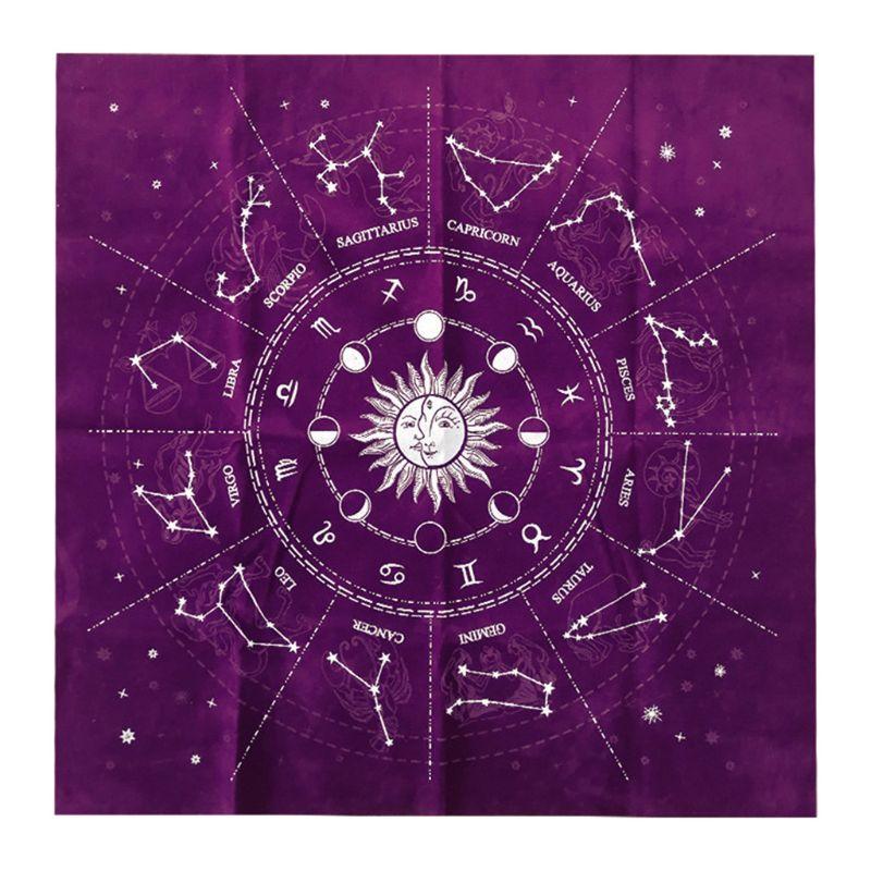 Nappe de Tarot de Velours de Tissu dautel de Couleur Pure Divination Astrologie Famille f/ête Jeu de soci/ét/é Cartes de Jeu