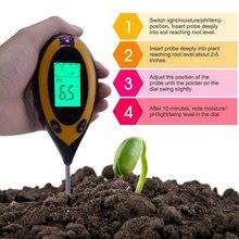 Soil-Ph-Tester Moisture-Meter Kit for Flowers 3/4-In-1 Ph-Light Plant