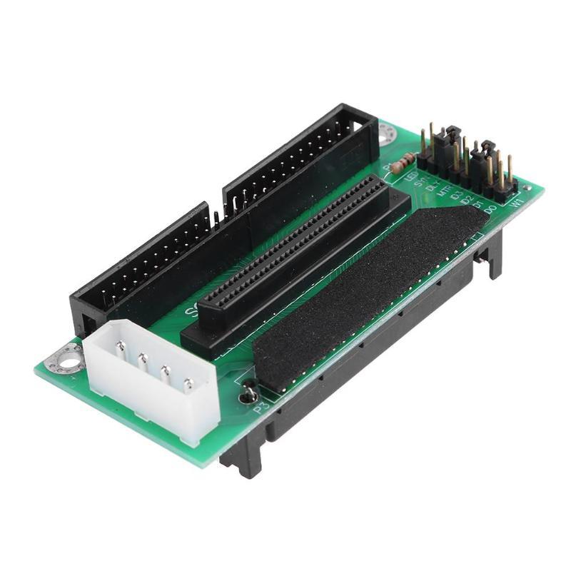 68 SCSI SCA 80Pin כדי 68Pin כדי 50Pin IDE Hard Disk מתאם ממיר לוח כרטיס 68 IDE 50 לוח מודול דיסק קשיח מתאם ממיר (1)