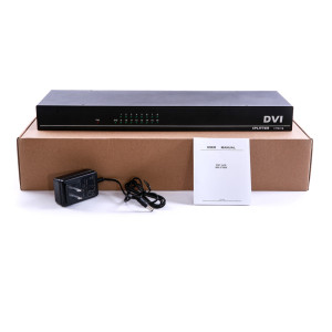 Image 5 - 4K 16 Ports DVI Splitter,Dual link DVI D 1X16 Splitter Adapter Distributor,Female Connector 4096x2160 5V Power For CCTV HDCamera