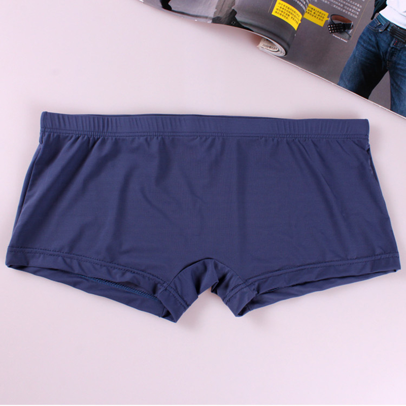 New Men's Boxers Comfy Soft Pouch Sexy Underpants Solid Color Underwear Male Boxer Shorts Intimates Clothes