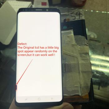 """5.8""""For Samsung Galaxy S9 G960 SM-G960F LCD Display+Touch Screen Digitizer with a little big spot Original Amoled Assembly Parts"""
