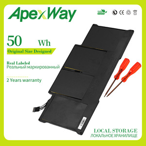 7.3V 50wh A1405 A1496 Laptop Battery For MacBook Air 13