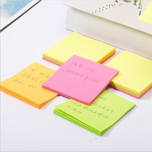 100 sheets Fluorescence colour paper Memo Pad Sticky Notes Bookmark Marker Sticker Office School stationery Supplies Notebooks