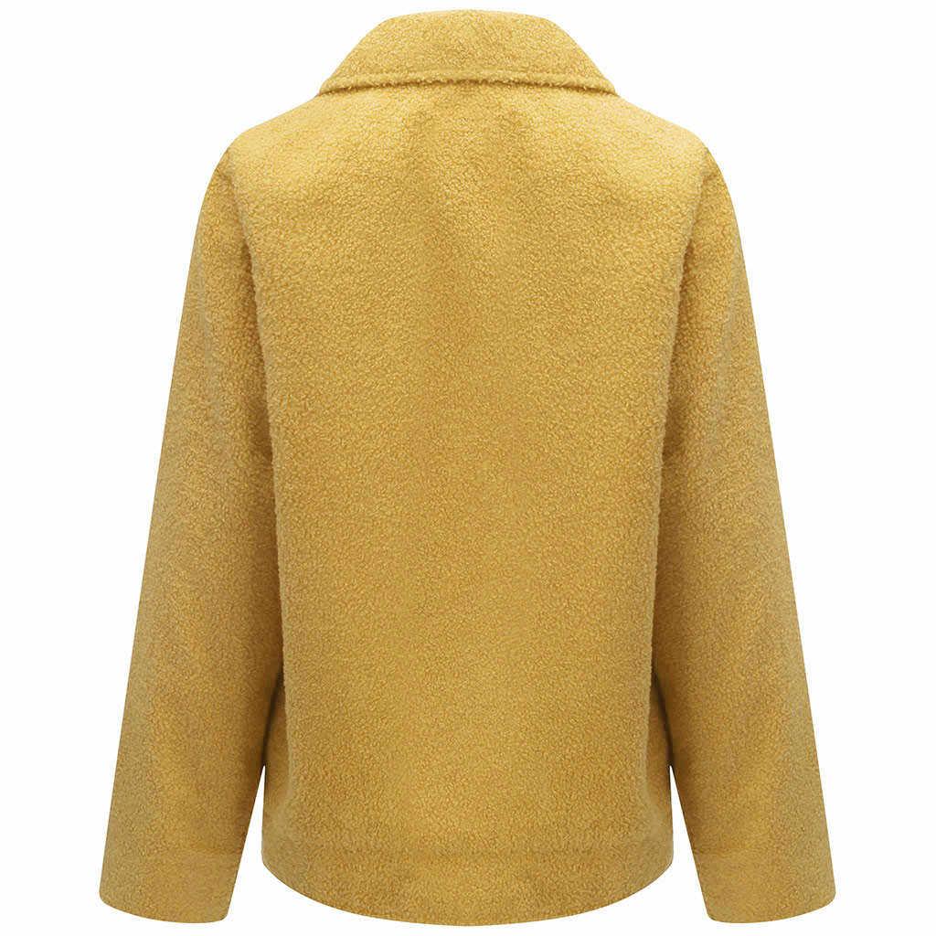 Mới Áo khoác nữ thời trang thu đông 2019 Mùa Đông dài áo khoác nữ có mũ ấm áo khoác ngoài Chắc Chắn Giả Dài Tay Shearling Áo khoác #907