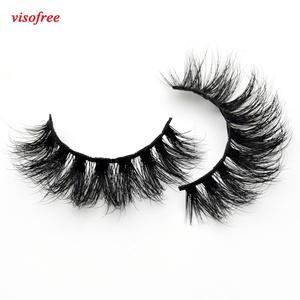 Image 1 - Visofree Thick Eyes Lashes Hand Make Fake Eyelashes Dramatic Volume False eyelashes 3D Lashes Cilios Mink for Makeup Tools D110