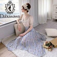 Maxi Skirts Bohemian Dabuwawa Summer Asymmetrical Print High-Waist Women Ladies D18BSK046