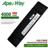 Apexway 10.95 v bateria do portátil 07g031001700 70-oa1p2b1000 AP31-1008P AP32-1008P 90-oa1p2b1000q para asus eee pc 1008kr 1008 p