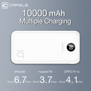 Image 2 - CAFELE 10000mah Power Bank LED Display Powerbank External Battery Dual USB Portable Charger Charging PoverBank for Huawei Xiaomi